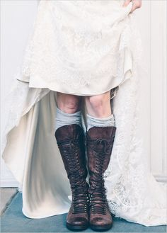 wedding boots @weddingchicks