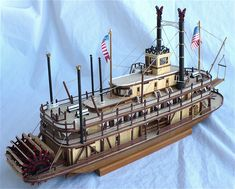 Here are some more images plus a composite of Artesania Latinas 1/80 scale paddle sternwheeler riverboat steamer King of the Mississip...