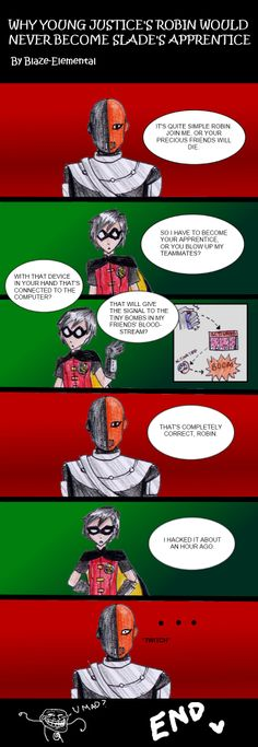 Why YJ Robin would never be Slade's apprentice