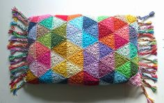 """Triangle Circle"" Pillow https://www.facebook.com/pages/Attys/285033854868633?ref=hl"