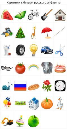 Картинки к буквам алфавита