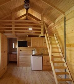 n this article, we will talk about excellent log cabin interior design you can apply into your cabin. Flooring and Windowing modern cabin interior design. Small Cabin Interiors, Modern Cabin Interior, Cabin Interior Design, Contemporary Interior, Tiny Cabins, Tiny House Cabin, Tiny House Living, Small House Plans, Tiny Houses
