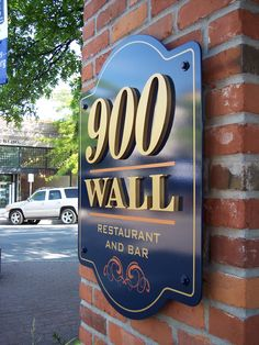 Elegant sign dimensional lettering for an elegant restaurant in one of the most prominent downtown Bend locations.