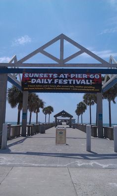 Pier 60 Sunset Festival,  Crafters, artist, and lots of family fun, including a movie and sunset. Clearwater Beach daily 6:30pm-10:30pm