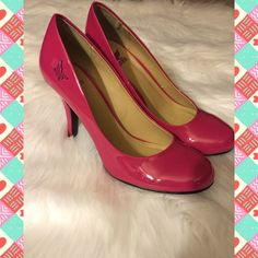 Raspberry Pumps NEW! Perfect condition, never worn. They are a beautiful Raspberry Pink with a 3 1/2 inch heel. Lightly padded insoles for extra comfort. Shiekh Shoes Heels