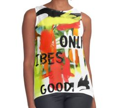 Good vibes only #yoga Contrast Tank