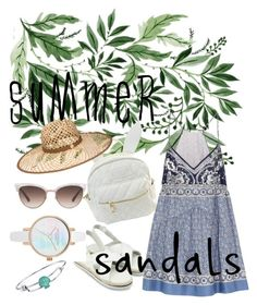"""""""summer sandal"""" by dewiaragawa on Polyvore featuring Chloé, cutekawaii, Henri Bendel, Gucci, Disney, outfit and summersandals"""
