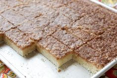 Cinnamon Toast Bars {gluten free and traditional dessert recipes} by Barefeet In The Kitchen