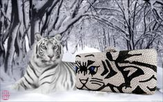 #Eveningbag #luxury #clutches #Swarovski #crystals #minaudiere #colors #animal #tiger #exclusive #jewels