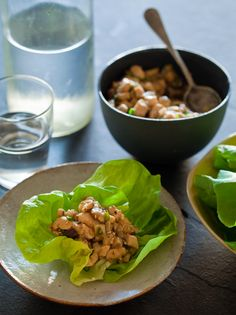 Chicken Lettuce Wraps.  <3 lettuce wraps.