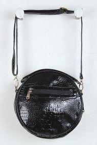 Circular Faux Pearl Button Bag