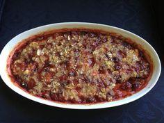 cherry crumble almond paste marzipan gratin almonds pizza forward ...