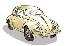How to draw a Volkswagen beetle