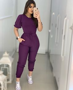 Long Pants, Jumpsuits For Women, Scrubs, Cute Outfits, Jumpers, My Style, Wattpad, Blue, Tops