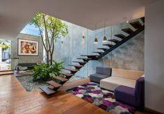 OFICINA MATATENA: Oficinas y tiendas de estilo Moderno por Desnivel Arquitectos