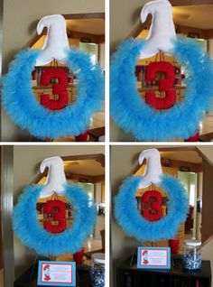 Smurf Birthday wreath