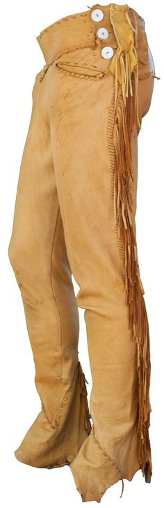 Coats Large Pants 36 Waist 33 Inseam Men by TopangaHiddenT - Description: Natural Buckskin Suede Leather Men's Pants with Criss Cross Stitched Sides Native American Clothing, American Apparel, Mountain Man Clothing, Suede Leather, Leather Pants, Suede Pants, Leather Armor, Men's Pants, Leather Jackets