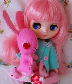 A new bunny friend I made for Georgie~ by Sweet Victoria Rose, via Flickr