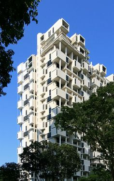 The Colonnade 28-story residential tower on Grange  Road 1979 architect Paul Rudolph + Archiplan Team