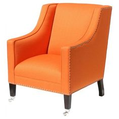 Check out this item at One Kings Lane! St. Tropez Chair, Tangerine