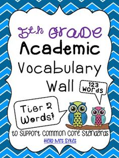 Academic Vocabulary Word Wall - Tier Two Words - Grade Vocabulary Word Walls, Academic Vocabulary, Vocabulary Activities, Vocabulary Strategies, Teaching Strategies, 4th Grade Writing, 4th Grade Reading, Guided Reading, Fourth Grade