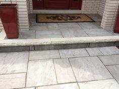 brick entryway stairs