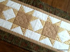 Spring Shabby Chic Quilted Patchwork Table by PatsPassionQuilteds,