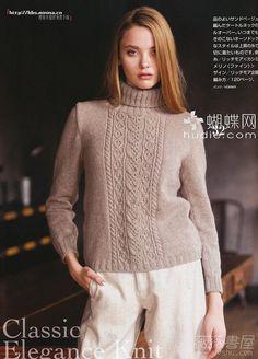 Photo from album on Yandex. Knitting Books, Crochet Books, Knitting Projects, Hand Knitting, Knit Crochet, Mohair Sweater, Cable Knit Sweaters, Sweater Knitting Patterns, Knit Patterns