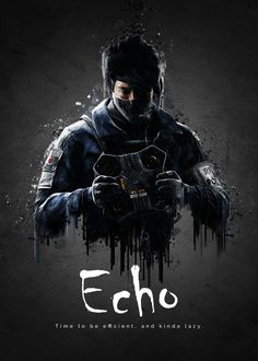 """Rainbow Six Siege Characters Echo #Displate artwork by artist """"TraXim"""". Part of a 33-piece set featuring artwork based on characters from the popular Rainbow Six video game. £37 / $49 per poster (Regular size), £74 / $98 per poster (Large size) #RainbowSix #RainbowSixSiege #TomClancy #TomClancysRainbowSix #Rainbow6 #Rainbow6Siege #TomClancysRainbow6 #Ubisoft"""