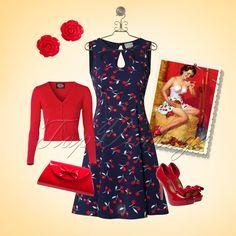 Flirt all summer in this sweet retro cherry look