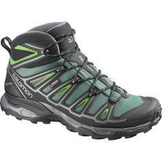 Today Recommend - Salomon X Ultra Mid 2 GTX Hiking Boot - Mens Bettle Green/Black/Spring Green, 9.0