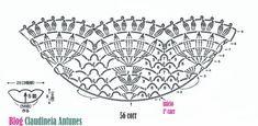 Crochê Gráfico de Blusa com Peplum e Manga Curta, gráfico para fazer blusa em croche no tamanho P ou M com fio Clea, camila, anne