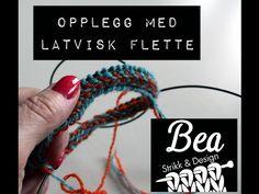 Latvisk flette - opplegg Stick O, Braids, Ravelry, Layout, Knitting, Blog, Design, Diys, Youtube