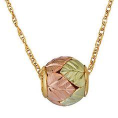 BLACK HILLS JEWELRY   Black Hills Gold Tricolor 10K Ball Pendant - Jewelry - Pendants ...