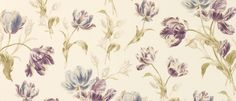 Gosford Meadow Plum Floral Wallpaper at Laura Ashley