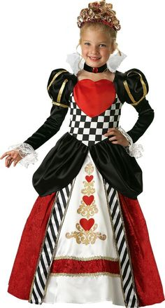 Queen of Hearts Costume for Girls - Party City $79.99