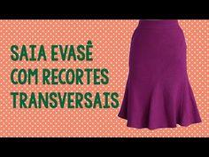 MODELAGEM SAIA EVASÊ COM RECORTE TRANSVERSAL - YouTube