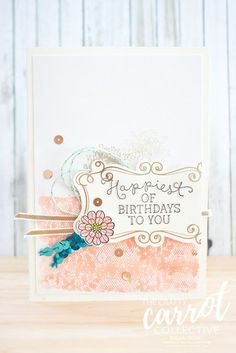 Stamping Susan: Touches of Texture - The Crafty Carrot Co Blog Hop