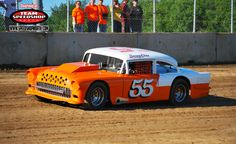 55 - Chevy Dirt Track Race Car Vintage Racing