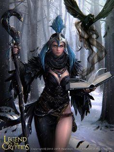 Artist: Unknown name aka lowlight - Title: Unknown - Card: Tenacious Dark Sorceress