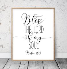 Bible Verse Art Bless The Lord Oh My Soul, Psalm Scripture Quote, Christian Wall Art, Bible Verse Printable, Nursery Wall Art Scripture - chalkboard Bible Verse Wall Art, Scripture Quotes, Bible Verse Crafts, Bible Scriptures, Printable Bible Verses, Printable Wall Art, Printable Quotes, Love One Another Quotes, Chalkboard Art Quotes