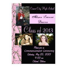 Camo Graduation Announcement!!! But not pink