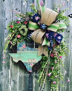 Texas Floral Grapevine by Holiday Baubles #TrendyTree #wreathmaking