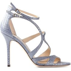 Jimmy Choo Furrow Sandals ($598) ❤ liked on Polyvore