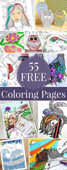 55 FREE Coloring Pag