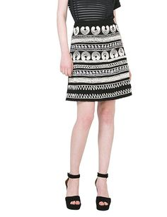 Desigual Women's Clara Knitted Knee Skirt, Black, XS ** Buy now: http://amzn.to/2iZdlr3