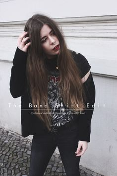 How to style band shirt and blazer - outfit of the day, streetstyle look, band shirt