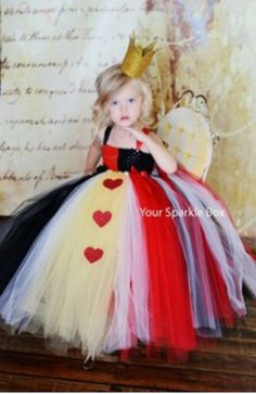 queen of hearts tulle toddler