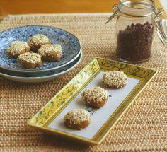 #Vegan #Glutenfree Chinese-Style Bean Pastry Cookies - These cookies provide a little pocket of smooth, sweet bean paste inside a crisp, light cookie casing. #recipe