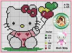 Hello Kitty perler bead pattern by Carina Cassol -